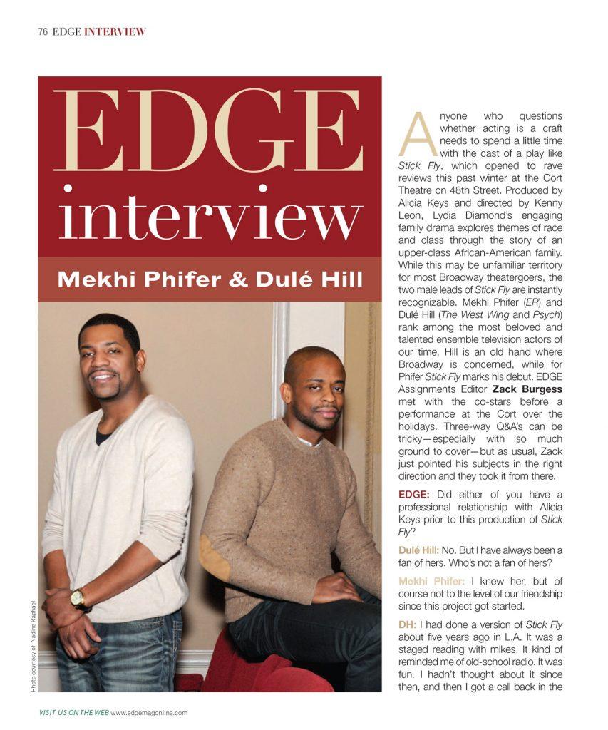 Mekhi Phifer & Dulé Hill